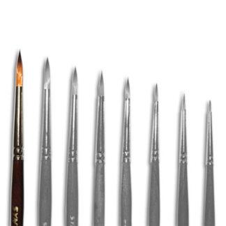 Кисточка «Живопись» 1121 Синтетика круглая № 05 короткая ручка рыжий ворс