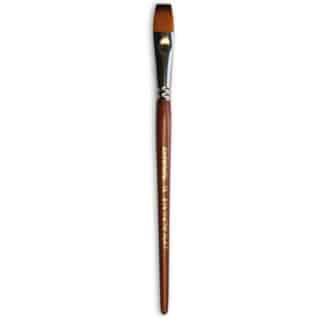 Кисточка «Живопись» 1122 Синтетика плоская № 12 короткая ручка рыжий ворс