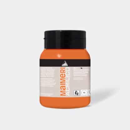 Акриловая краска Acrilico 500 мл 062 оранжевый стойкий Maimeri Италия