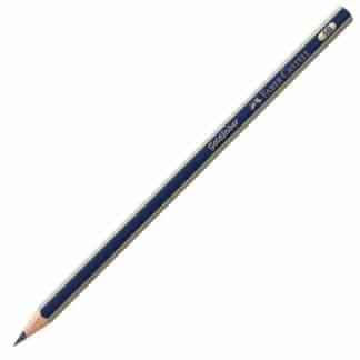 Карандаш чернографитный Goldfaber 5B сине-золотой Faber-Castell