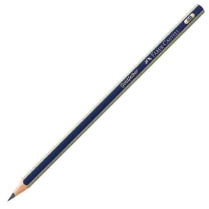 Карандаш чернографитный Goldfaber 6B сине-золотой Faber-Castell