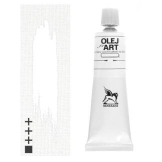 Масляная краска 53 Белила титановые двойного покрытия 60 мл Renesans Польша