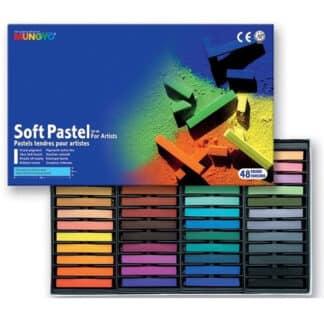 Набор сухой мягкой пастели «Ассорти» 48 цветов квадратная MP-48 Mungyo