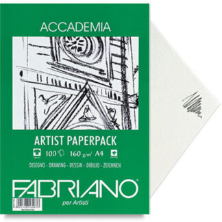 50814160 Бумага для графики Accademia А4 (21х29,7 см) 160 г/м.кв. 150 листов в упаковке Fabriano Италия