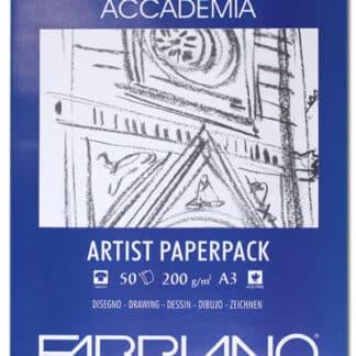 50813200 Бумага для сухих и влажных техник Accademia А3 (29,7х42 см) 200 г/м.кв. 50 листов в упаковке Fabriano Италия