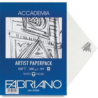 50814200 Бумага для сухих и влажных техник Accademia А4 (21х29,7 см) 200 г/м.кв. 100 листов в упаковке Fabriano Италия