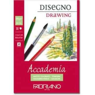 41201421 Альбом для влажных техник склейка Accademia А5 (14,8х21 см) 200 г/м.кв. 30 листов Fabriano Италия