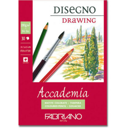 41202942 Альбом для влажных техник склейка Accademia А3 (29,7х42 см) 200 г/м.кв. 30 листов Fabriano Италия