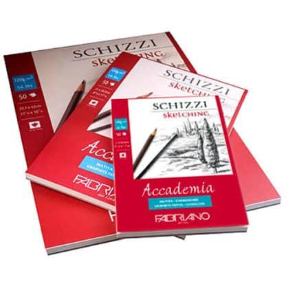 41124259 Альбом для графики склейка Accademia А2 (42х59,4 см) 120 г/м.кв. 50 листов Fabriano Италия