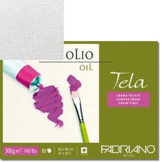 68003040 Альбом для масляной живописи Tela 30х40 см 300 г/м.кв. 10 листов Fabriano Италия