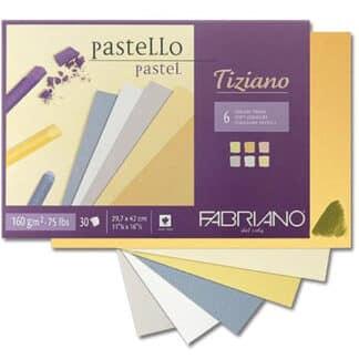 46021297 Альбом для пастели Tiziano А4 (21х29,7 см) 160 г/м.кв. 6 цветов 30 листов асорти Fabriano Италия