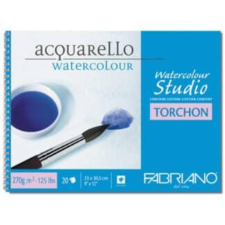 72702129 Альбом для акварели Watercolour Studio Torchon А4 (21х29,7 см) 270 г/м.кв. 12 листов на спирали Fabriano Италия