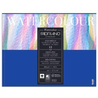 17311824 Альбом для акварели Watercolour 18х24 см 300 г/м.кв. 12 листов склейка Fabriano Италия
