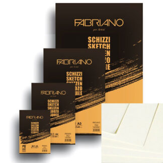57721297 Блокнот для эскизов Schizzi А4 (21х29,7 см) 90 г/м.кв. 120 листов склейка Fabriano Италия
