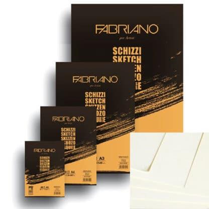 57742594 Блокнот для эскизов Schizzi А2 (42х59,4 см) 90 г/м.кв. 60 листов склейка Fabriano Италия
