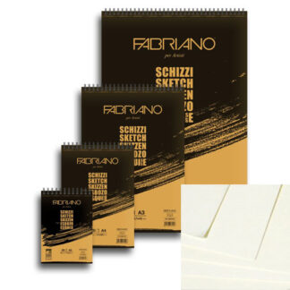 56614821 Блокнот для эскизов Schizzi А5 (14,8х21 см) 90 г/м.кв. 60 листов на спирали Fabriano Италия