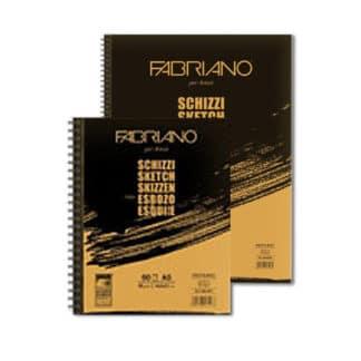 52129766 Блокнот для эскизов Schizzi А4 (21х29,7 см) 90 г/м.кв. 120 листов на спирали по длинной стороне Fabriano Италия