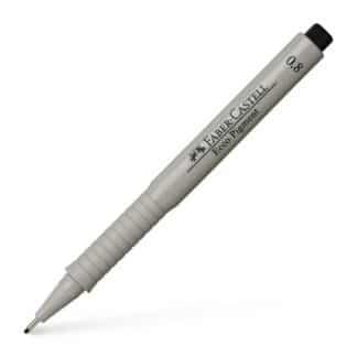 Линер черный Ecco pigment 0,8 мм Faber-Castell