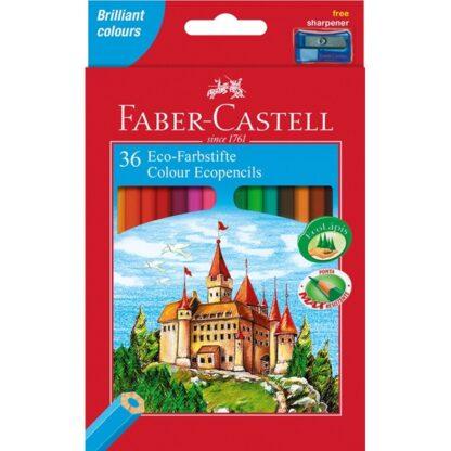 Набор цветных карандашей «Замок и рыцари» 36 цветов (точилка) Faber-Castell