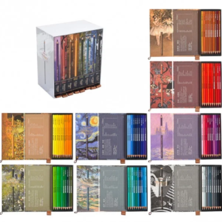 Набор цветных карандашей 80 цветов круглые/кедр  Tribute 3300-80CB Marco