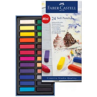 Набор сухой мягкой пастели Goldfaber 24 цвета 70 мм Faber-Castell
