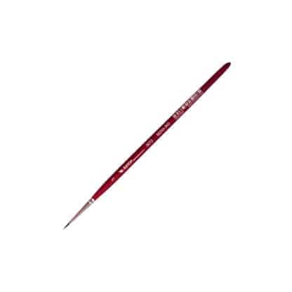 Кисточка «Автор» 5072 Белка имитация круглая №01 короткая ручка красная АртАвангард