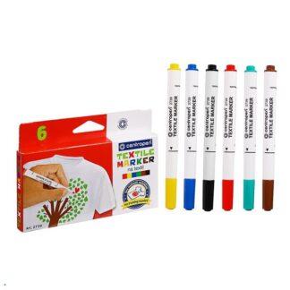 Набор маркеров по ткани Textile Marker 6 цветов Centropen