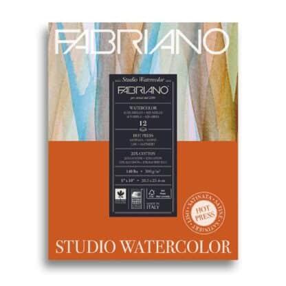 19123001 Альбом для акварели Studio 20,3х25,4 см 300 г/м.кв. 12 листов Fabriano Италия