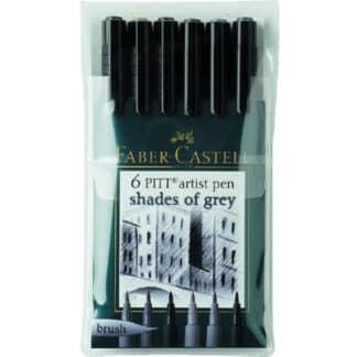 Набор фломастеров «Оттенки серого» 6 штук Faber-Castell 167104