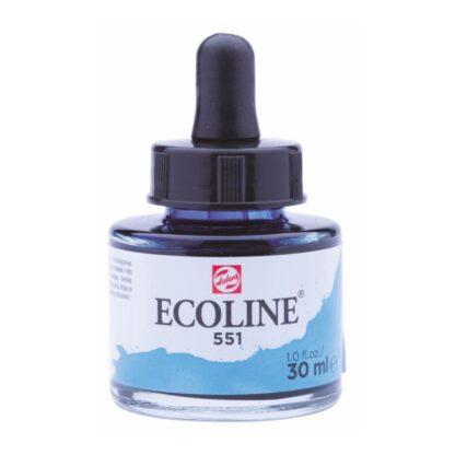 Акварельная краска жидкая Ecoline 551 Небесно-голубой 30 мл с пипеткой