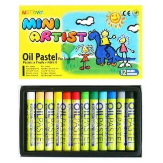 Набор масляной пастели 12 цветов MOPS-12 Mungyo