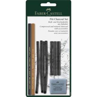Набор графита Pitt Charcoal 10 предметов Faber-Castell