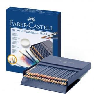 Набор акварельных карандашей Art Grip 38 штук в картонной коробке Faber-Castell