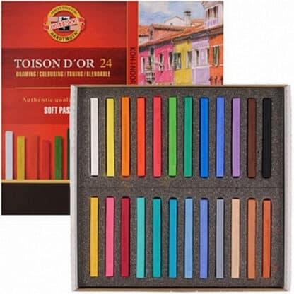 Набор сухой мягкой пастели прямоугольная Toison D`or 24 цвета Koh-i-Noor