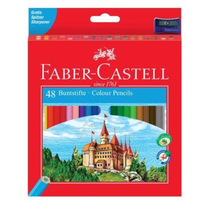 Набор цветных карандашей «Замок и рыцари» 48 цветов (точилка) Faber-Castell