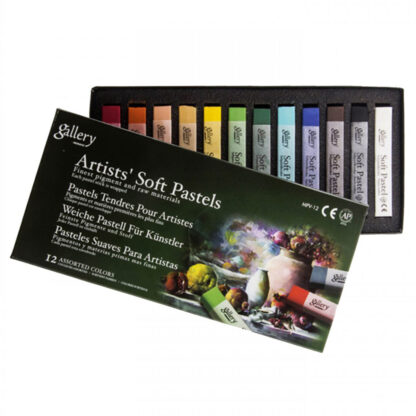 Набор сухой мягкой пастели «Ассорти» 12 цветов квадратная MPV-12 Mungyo