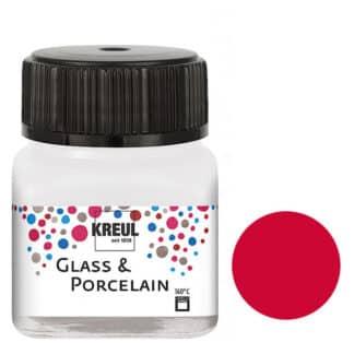 Краска по фарфору и керамике на водной основе KR-16206 Кармин 20 мл Hobby Line C.KREUL
