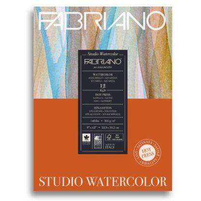 19123002 Альбом для акварели Studio 22,9х30,5 см 300 г/м.кв. 12 листов Fabriano Италия