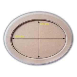 Заготовка деревянная «Панно рамка»  овальное 150х210/210х270 мм МДФ 25.059
