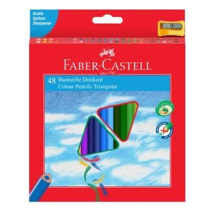 Набор цветных карандашей 48 цветов трехгранные (точилка) Faber-Castell