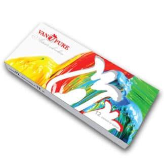 Набор масляных красок 12 цветов по 12 мл Van Pure
