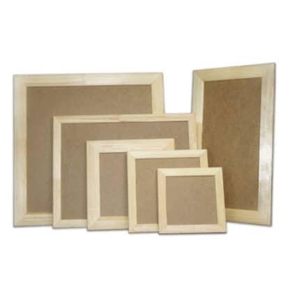 Деревянная рамка для декора с ДВП 40х50 см (планка 55х18)