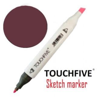 Маркер двусторонний 1 Wine Red TouchFive