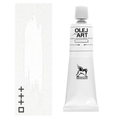 Масляная краска 01 Белила цинковые 60 мл Renesans Польша