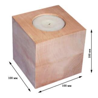 Заготовка деревянная «Подсвечник» №10 100х100х100 мм ольха 19.018 Украина