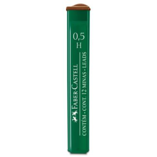 Грифель 0,5 мм H 12 штук в пенале Faber-Castell 9125