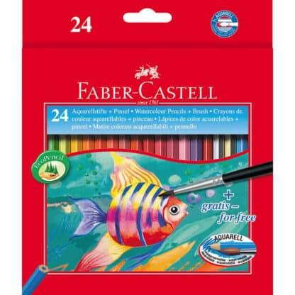 Набор акварельных карандашей 24 цвета в картонной коробке Faber-Castell