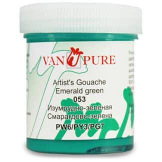 Гуашевая краска Van Pure 40 мл 053 изумрудно-зеленая