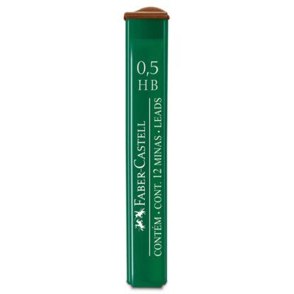 Грифель 0,5 мм HB 12 штук в пенале Faber-Castell 9125