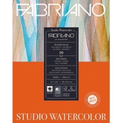 19503005 Альбом для акварели Studio 28х35,6 см 300 г/м.кв. 50 листов Fabriano Италия